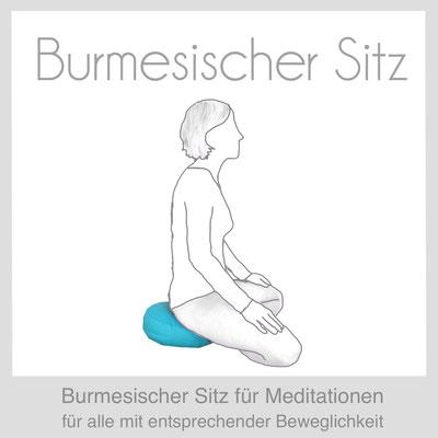 Meditationskissen Yogakissen Burmesischer Sitz