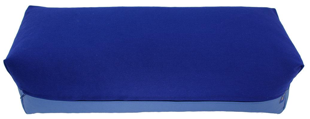 Yoga Bolster eckig Köln tinte + jeansblau