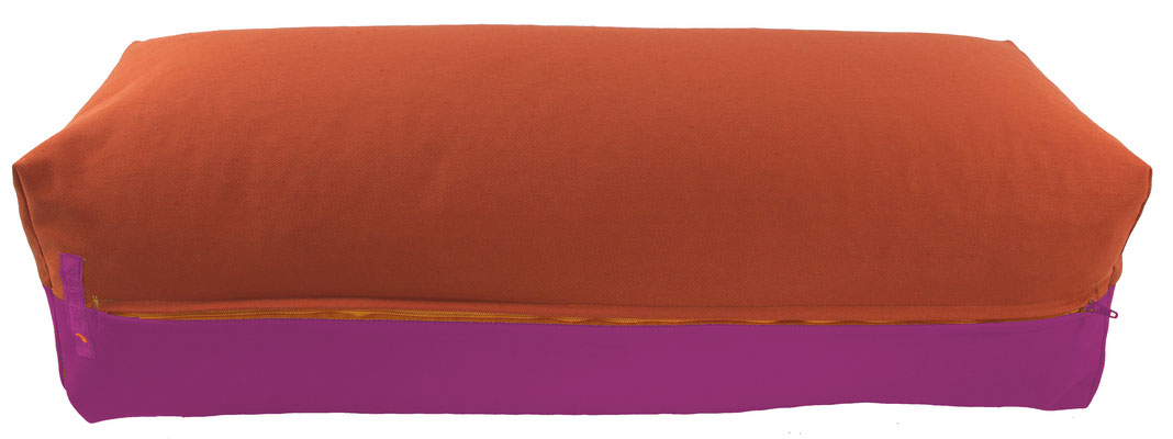 Yoga Bolster eckig Köln terracotta + rotviolett