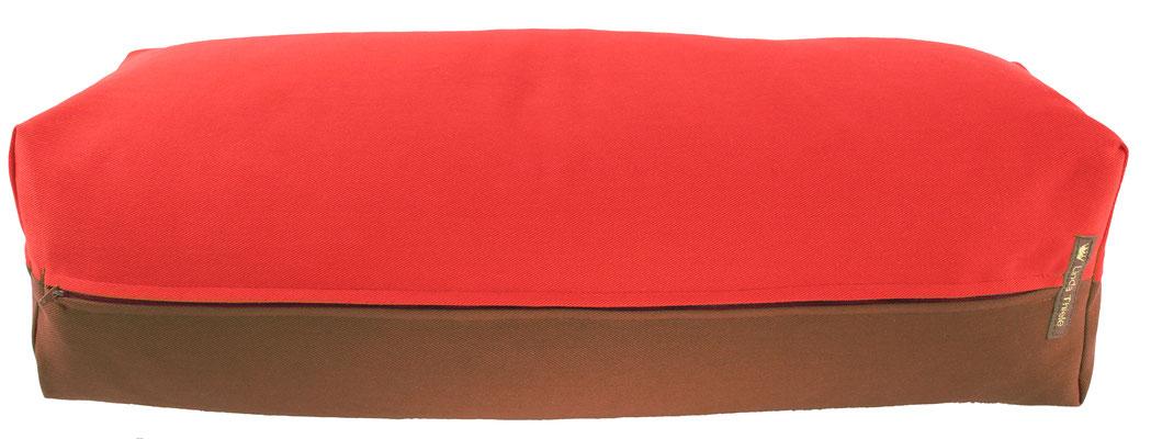 Yoga Bolster eckig Köln rot + braun