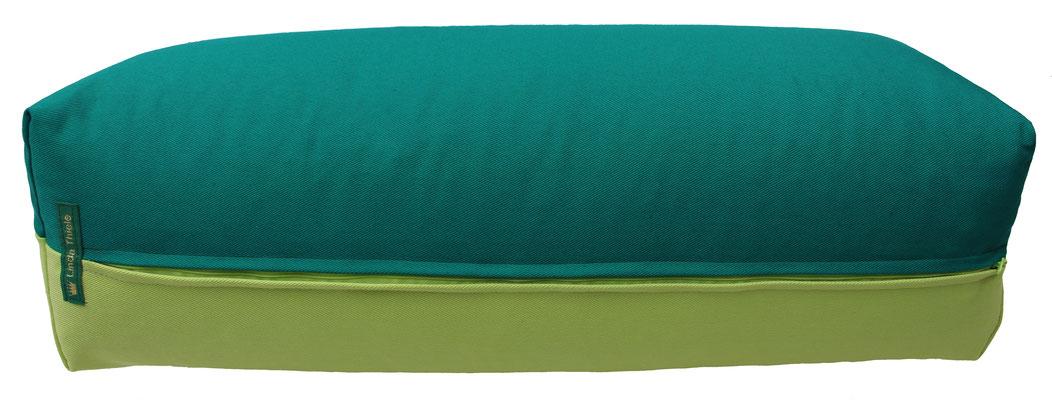 Yoga Bolster eckig Köln seegrün + hellgrün