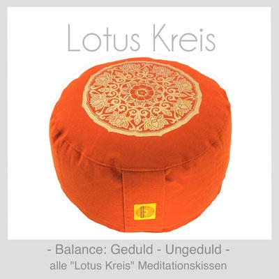 "Meditationskissen ""Lotus Kreis"""