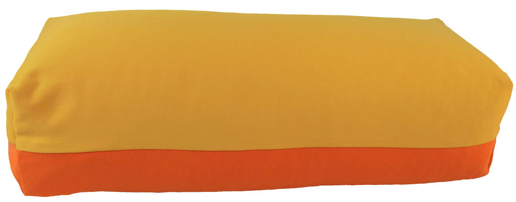 Yoga Bolster eckig Köln sonne + orange