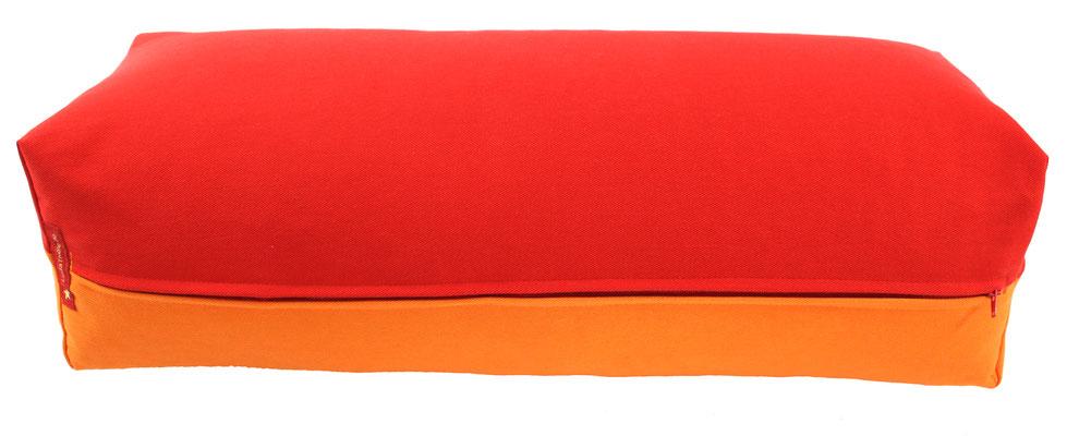 Yoga Bolster eckig Köln rot + orange