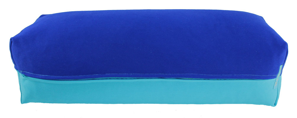 Yoga Bolster eckig Colorline royal + türkis