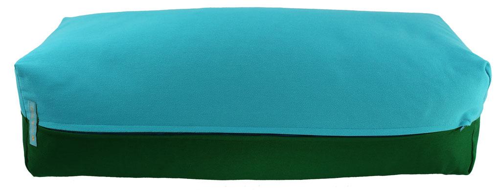 Yoga Bolster eckig Colorline türkis + dunkelgrün