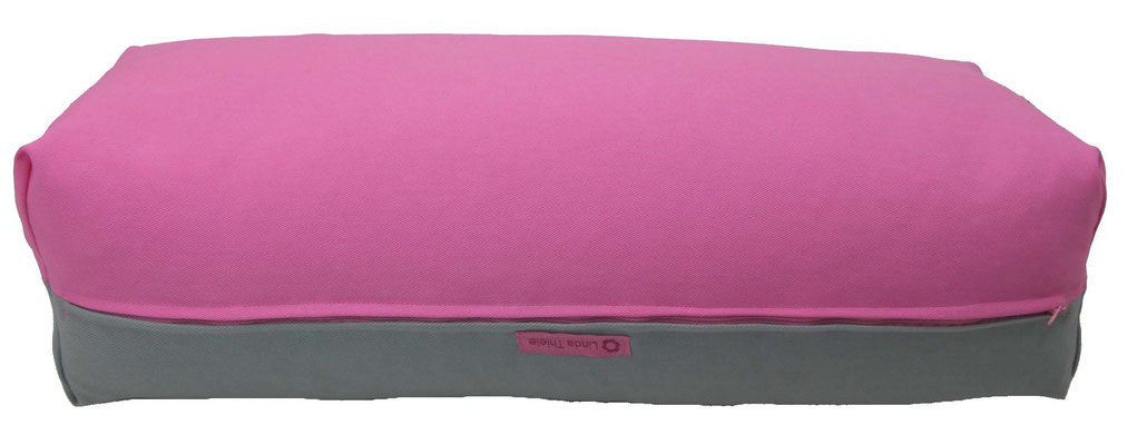 Yoga Bolster eckig Köln rosa + silbergrau