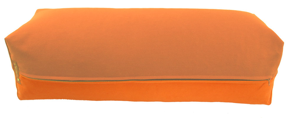 Yoga Bolster eckig Köln terracotta + orange