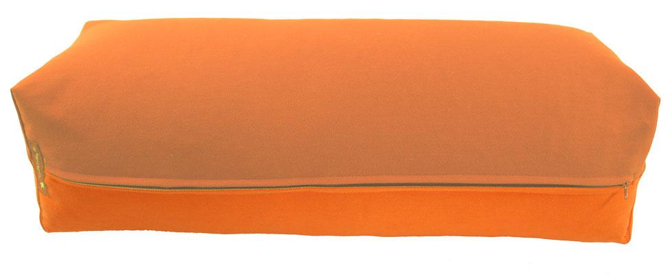 Yoga Bolster eckig Köln terracotta + orange