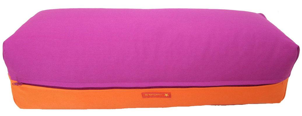 Yoga Bolster eckig Köln rotviolett + orange