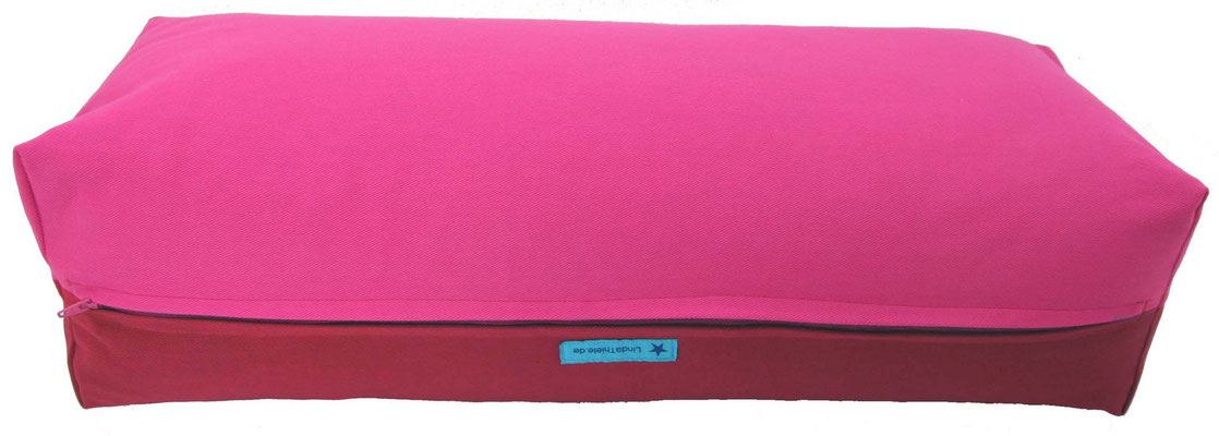 Yoga Bolster eckig Köln pink + bordeaux