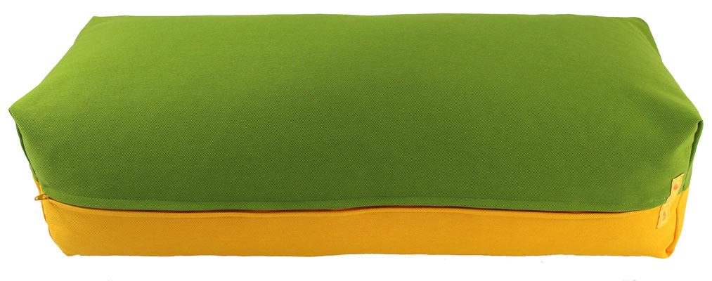 Yoga Bolster eckig Köln kiwi + sonne