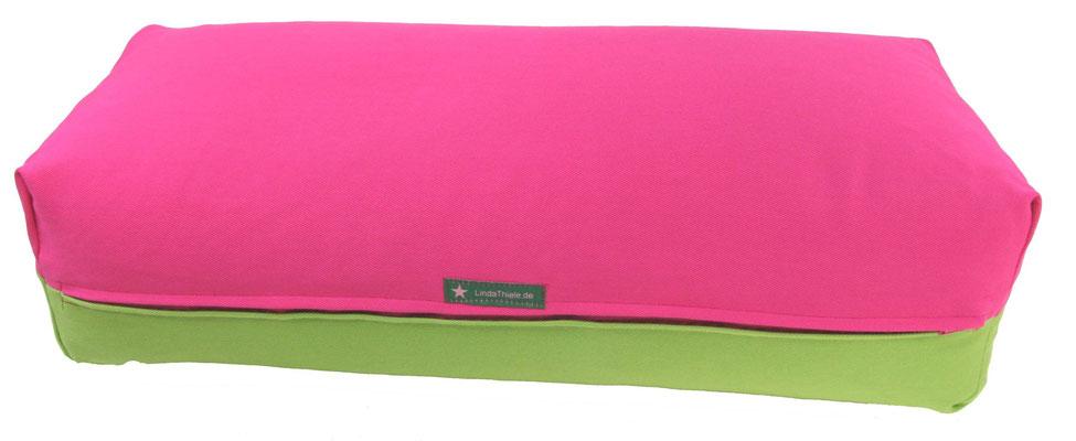 Yoga Bolster eckig Köln pink + apfel
