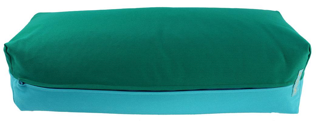 Yoga Bolster eckig Colorline seegrün + türkis