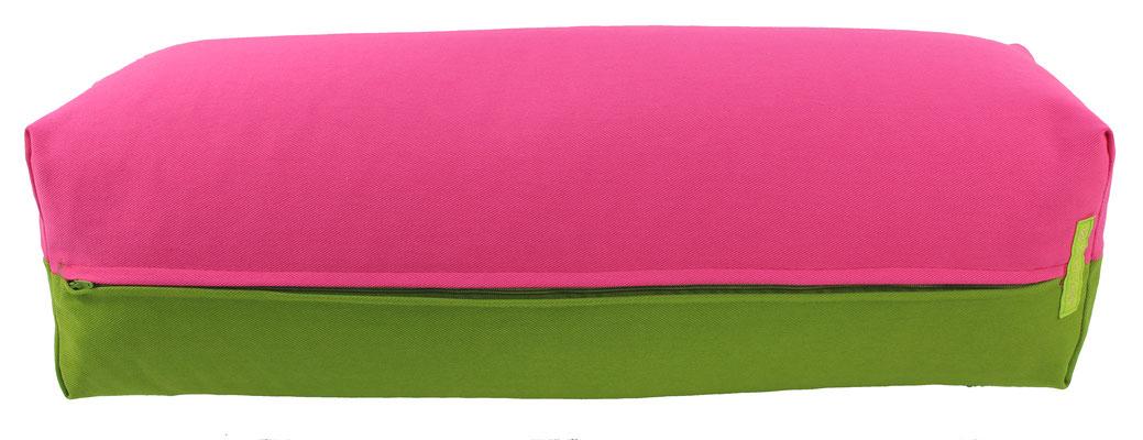 Yoga Bolster eckig Köln pink + kiwi