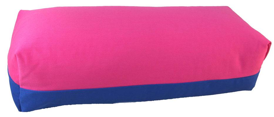 Yoga Bolster eckig Köln pink + royal
