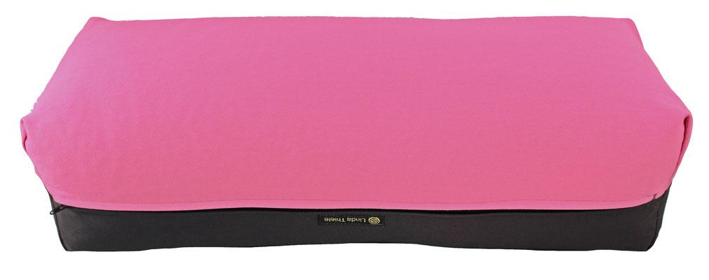 Yoga Bolster eckig Köln rosa + anthrazit
