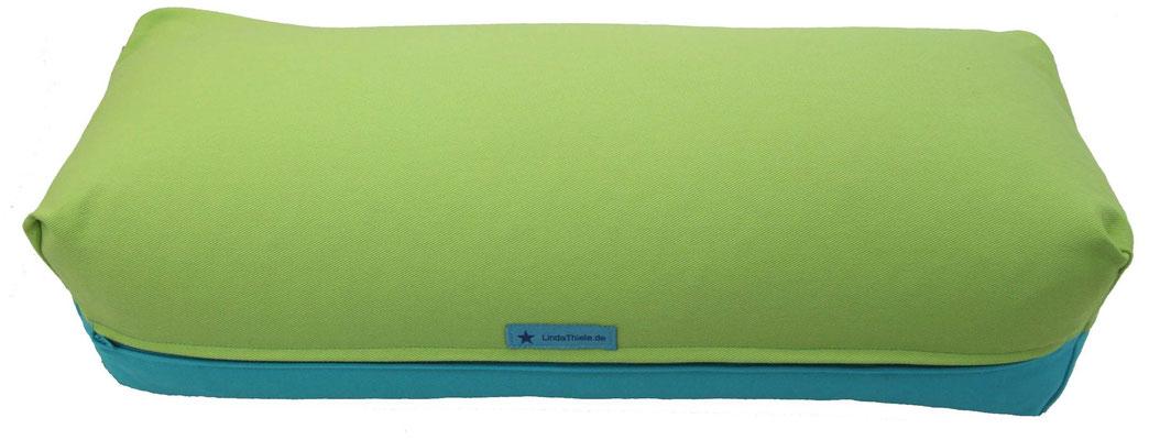 Yoga Bolster eckig Colorline hellgrün + türkis