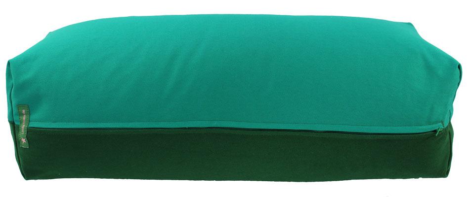 Yoga Bolster eckig Köln seegrün + dunkelgrün