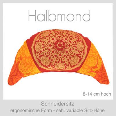 Designer Meditationskissen Yogakissen Schneidersitz  Halbmond