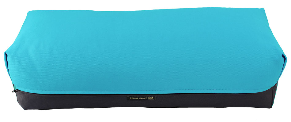 Yoga Bolster eckig Colorline türkis + anthrazit
