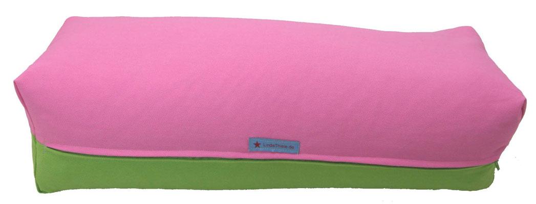 Yoga Bolster eckig Köln rosa + apfel