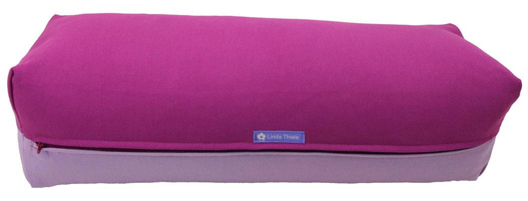 Yoga Bolster eckig Köln rotviolett + flieder