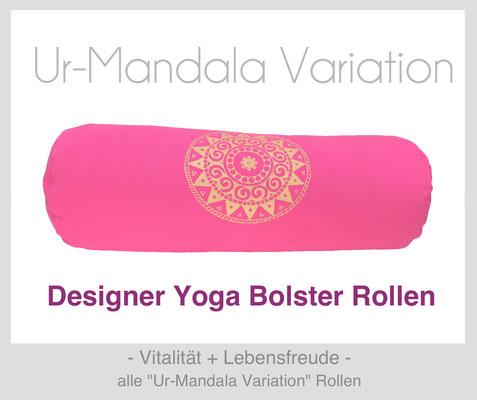 "Yoga Bolster Rollen ""Ur-Mandala Variation"""