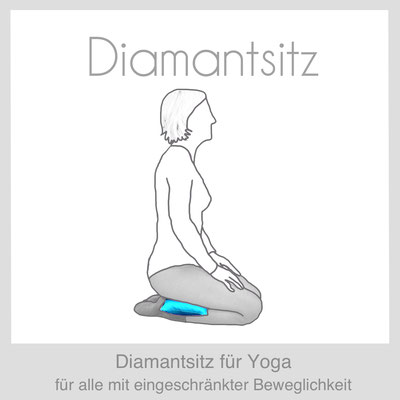 Meditationskissen Yogakissen Diamantsitz