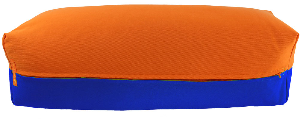 Yoga Bolster eckig Köln orange + royal