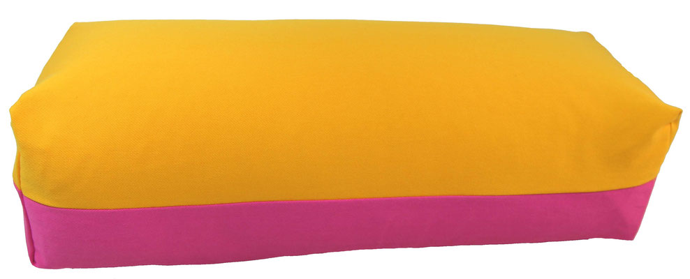Yoga Bolster eckig Köln sonne + pink