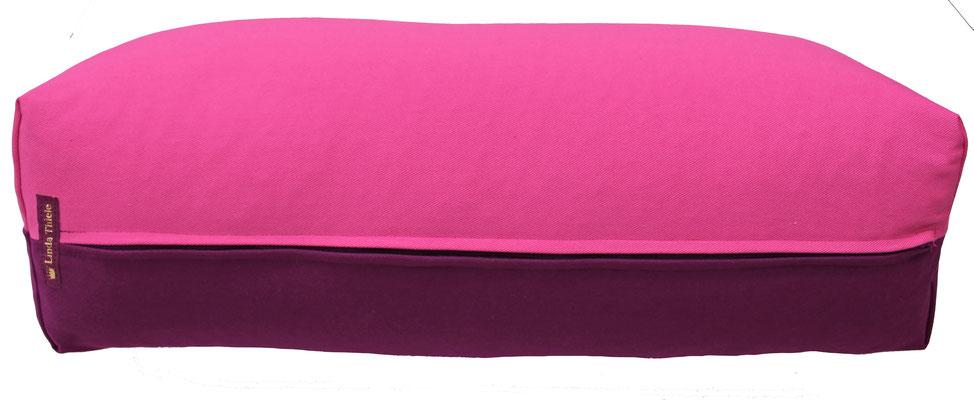 Yoga Bolster eckig Köln pink + aubergine