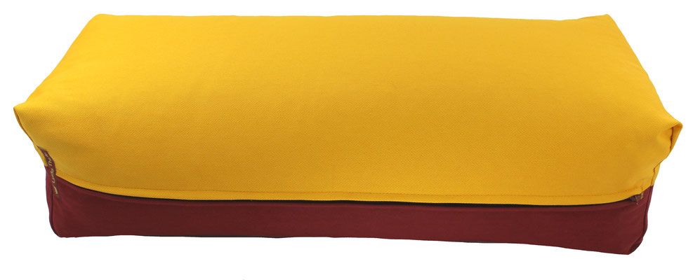 Yoga Bolster eckig Köln curry + bordeaux