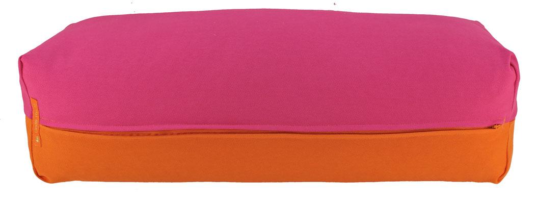 Yoga Bolster eckig Köln pink + orange