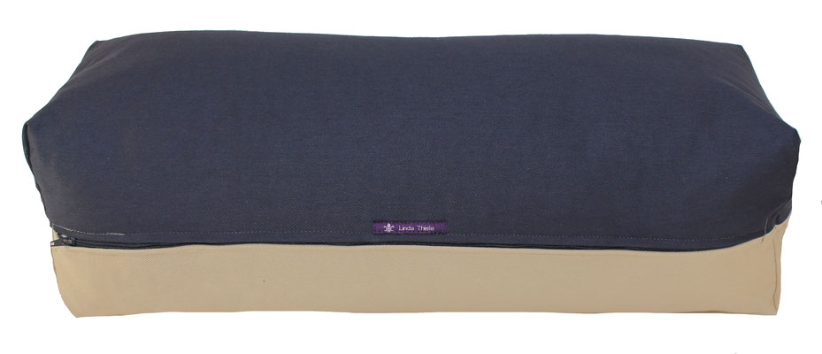 Yoga Bolster eckig Colorline anthrazit + beige