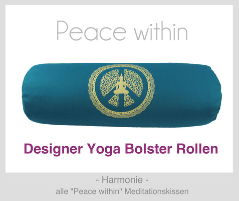 "Yoga Bolster Rollen ""Peace within"""