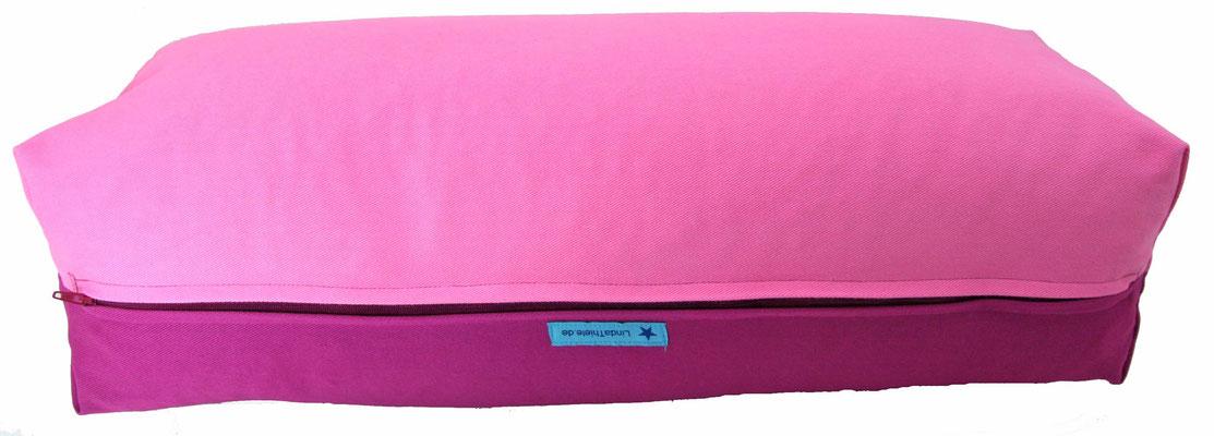 Yoga Bolster eckig Köln rosa + rotviolett
