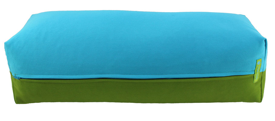 Yoga Bolster eckig Colorline türkis + kiwi