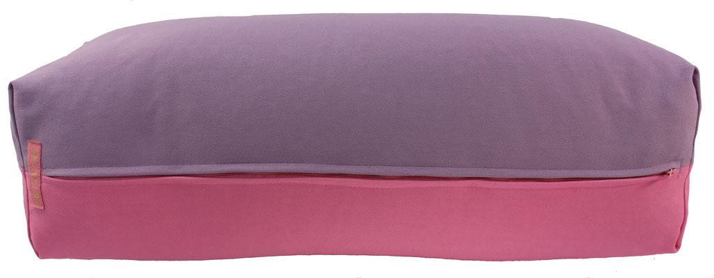 Yoga Bolster eckig Köln flieder + rosa