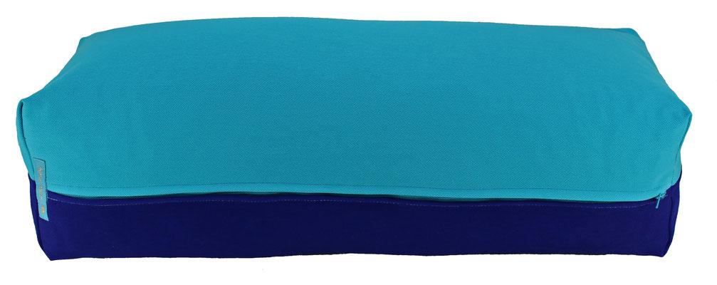 Yoga Bolster eckig Colorline türkis + tinte