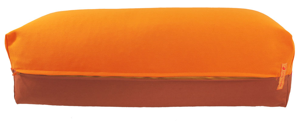 Yoga Bolster eckig Köln orange + terracotta