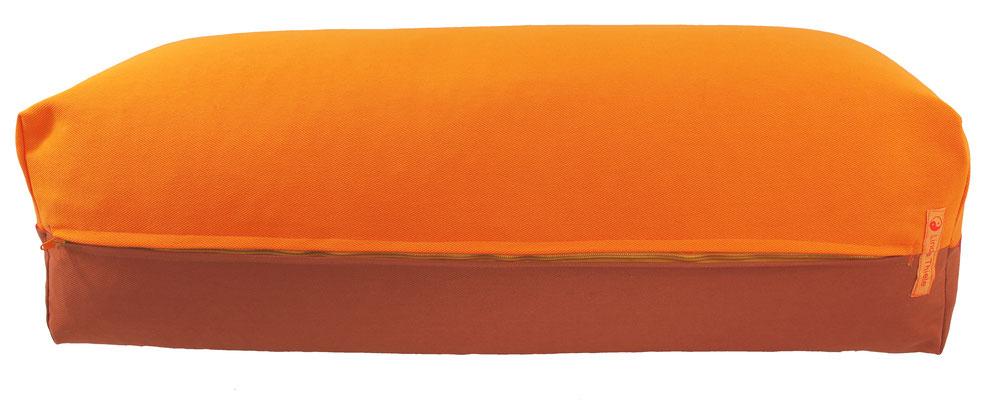 Yoga Bolster eckig Köln orange + terracotta