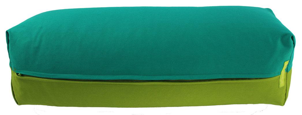 Yoga Bolster eckig Köln seegrün + kiwi