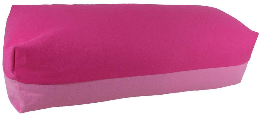 Yoga Bolster eckig Köln pink + rosa