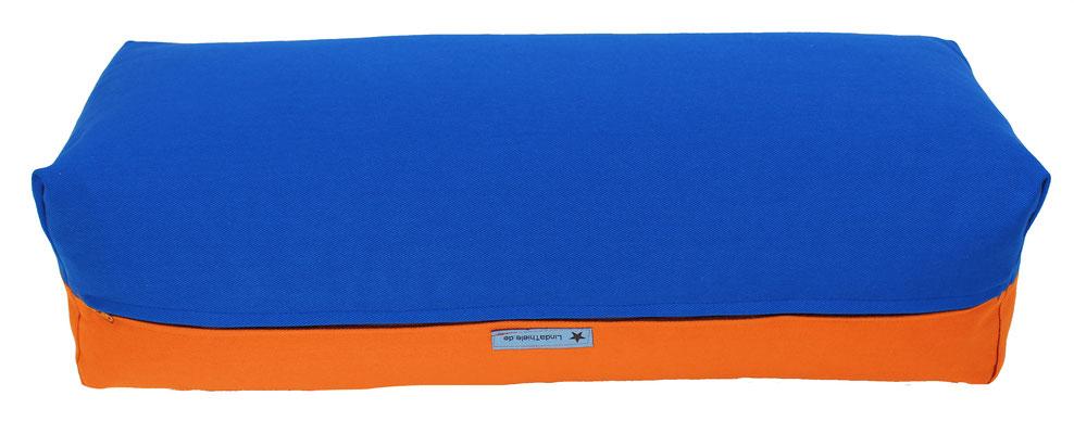 Yoga Bolster eckig Köln royal + orange