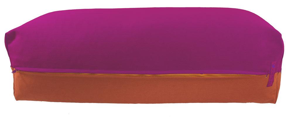 Yoga Bolster eckig Köln rotviolett + terracotta