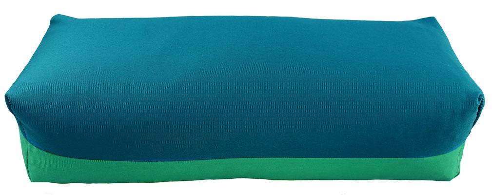Yoga Bolster eckig Köln petrol + seegrün