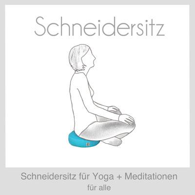 Meditationskissen Yogakissen Schneidersitz