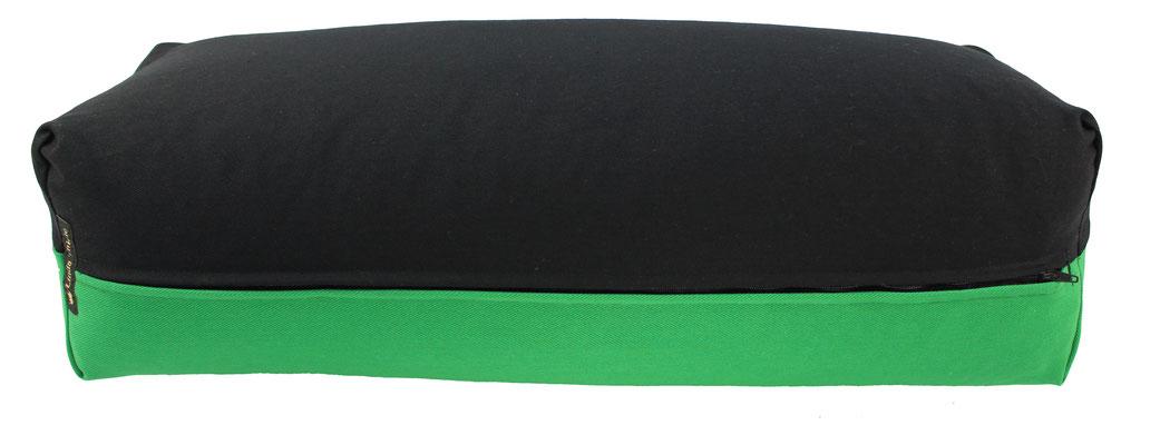 Yoga Bolster eckig Köln schwarz + grasgrün