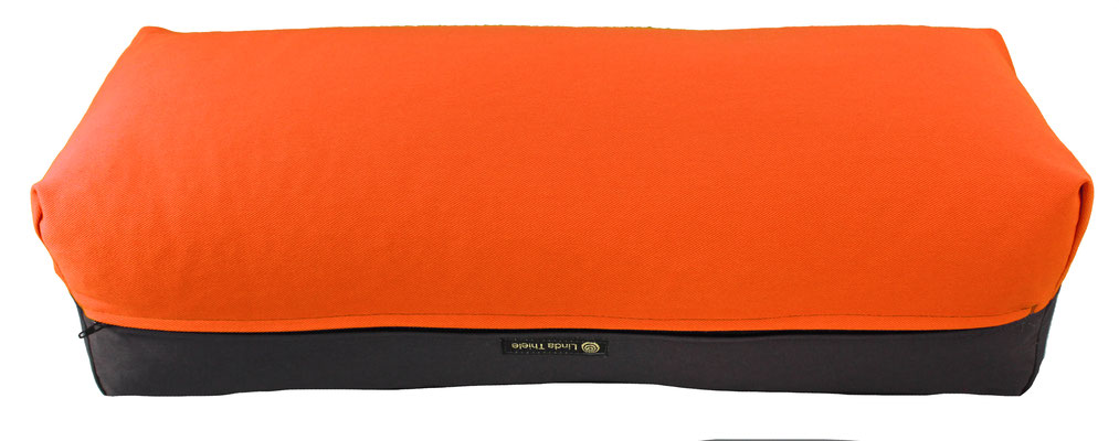 Yoga Bolster eckig Köln orange + anthrazit